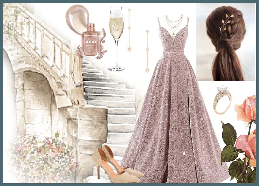 Sleeping Beauty Blush Ballgown