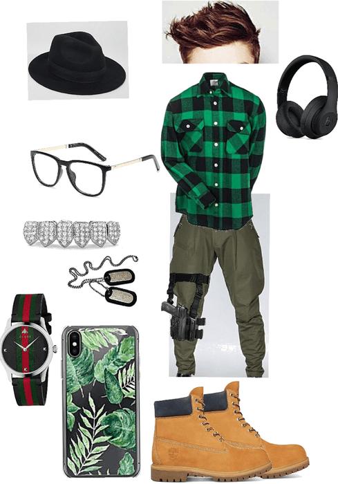 green gangster rap