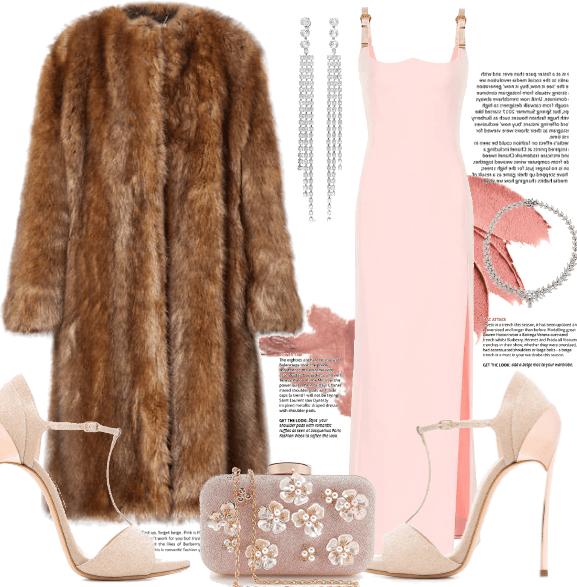 Pink Dress & Fur.