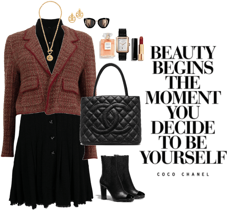 One brand Coco Chanel outfit