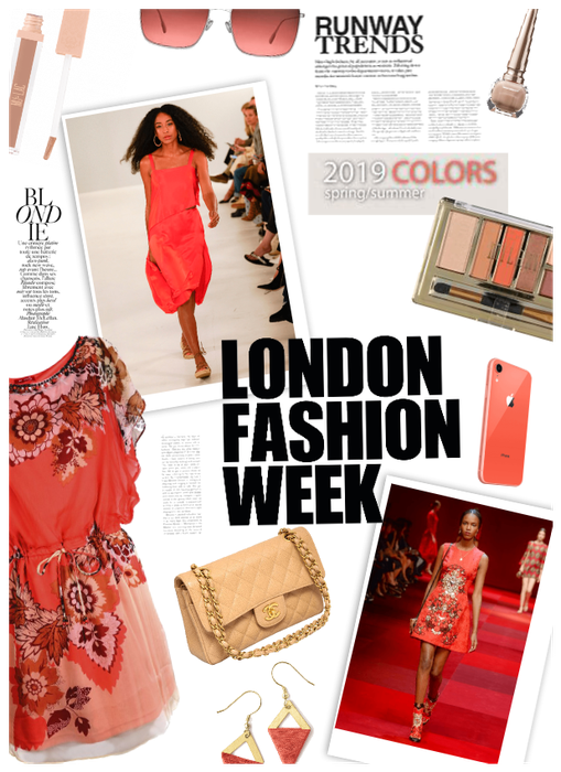London Fashion Week/2019 Color of Year-Coral
