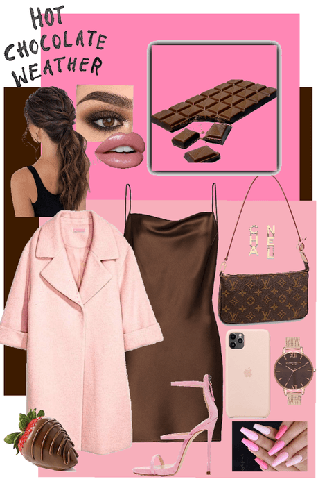 Pink and Chocolate Outfit