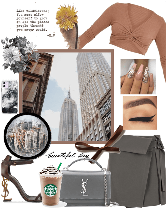 Grey and brown fashion