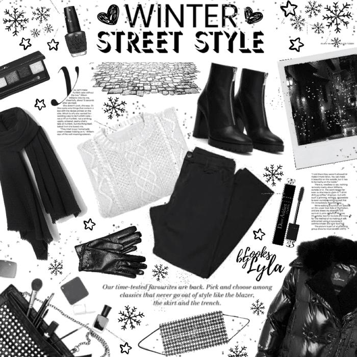 winter street style - B&W