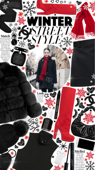 winter street style ❤️🖤