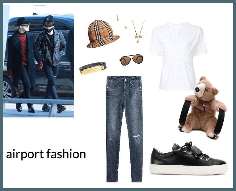 8th member bts airport fashion
