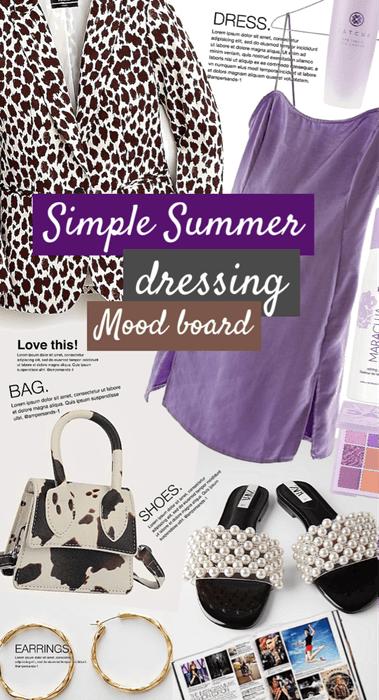 simple dress mood board