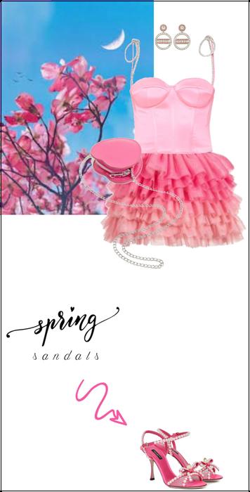 spring sandals - pink