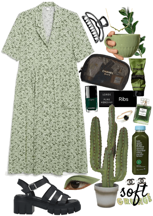 green grunge softy
