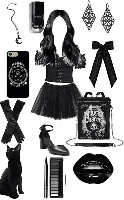 black 🖤 low key witch inspired