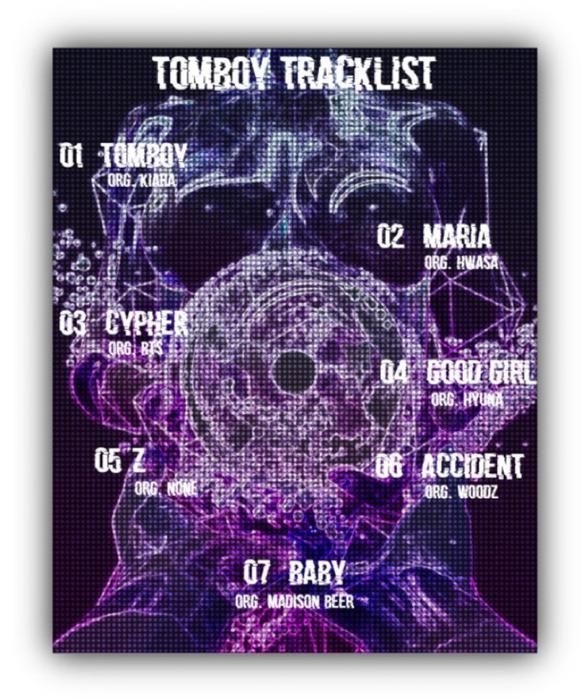 라로그 [𝗟𝗮 𝗥𝗼𝘂𝗴𝗲] - Iris 'Tomboy' tracklist (15042021)