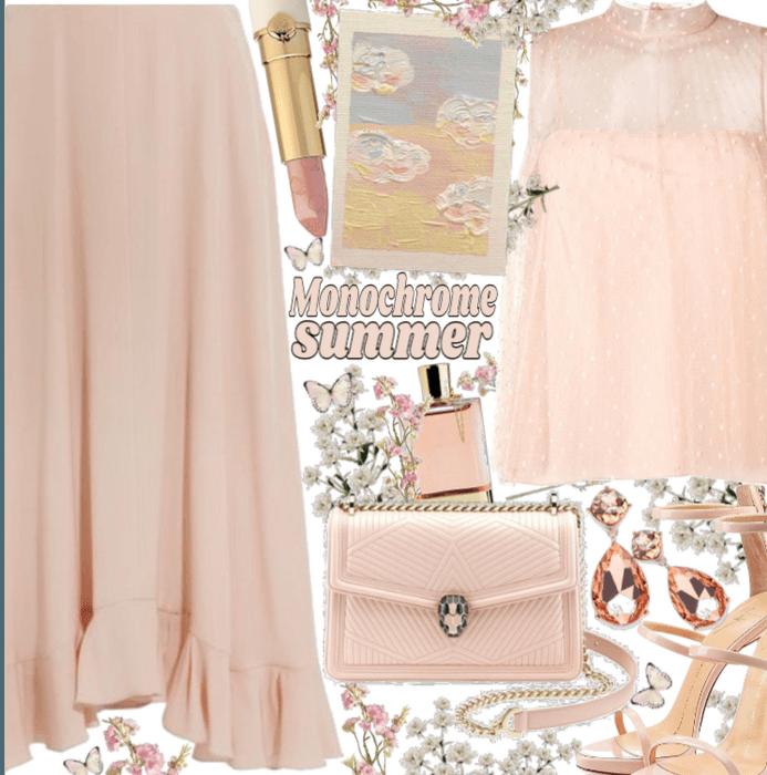 Blush Pink monochorme summed