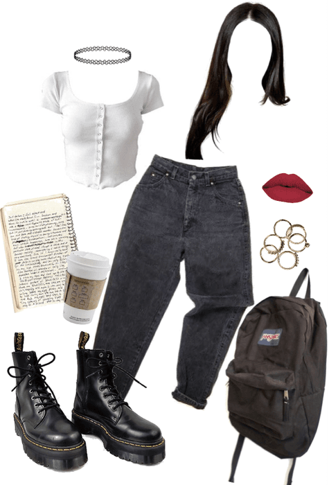 90s inspired outfit I'd wear to school