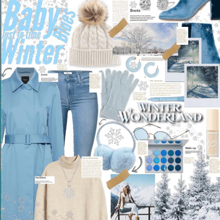Baby blue winter feels