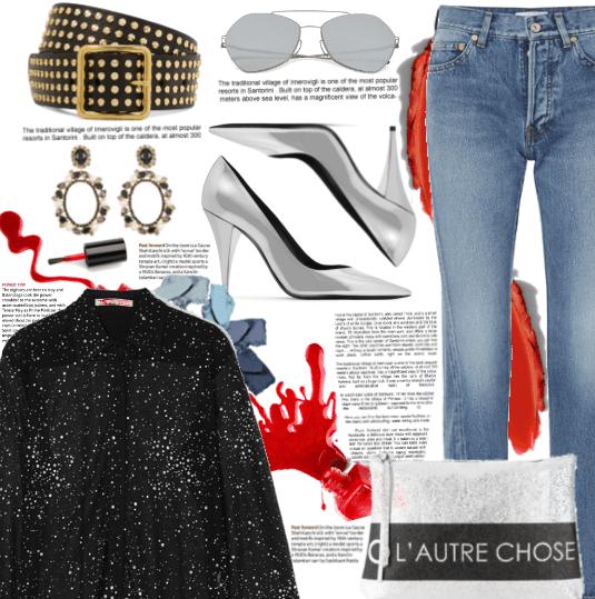 Silver Pumps + Jeans.