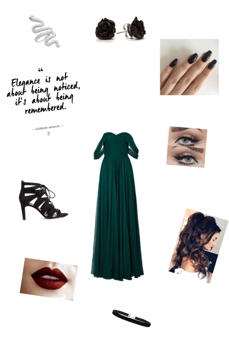Slytherin Yule ball outfit