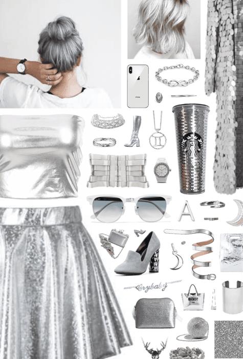 silvery.