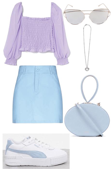 Purple-Blue Pastels