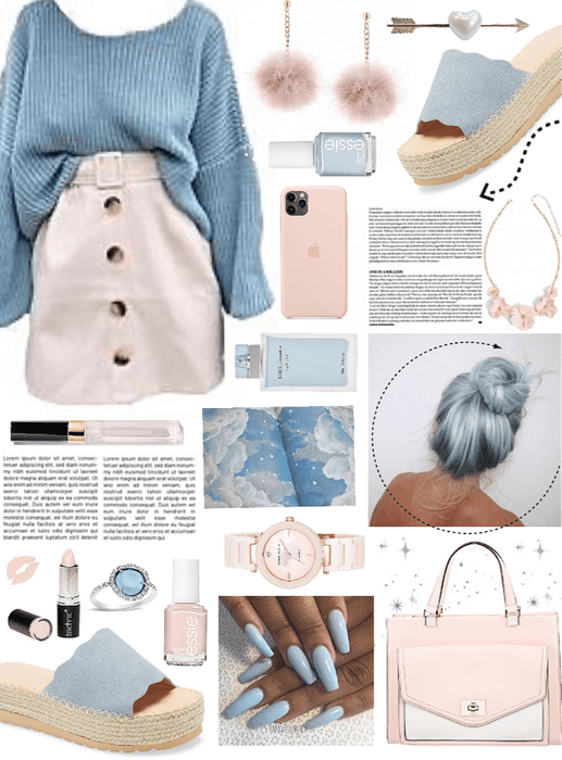 Baby blue & light pink 🌸✨💎