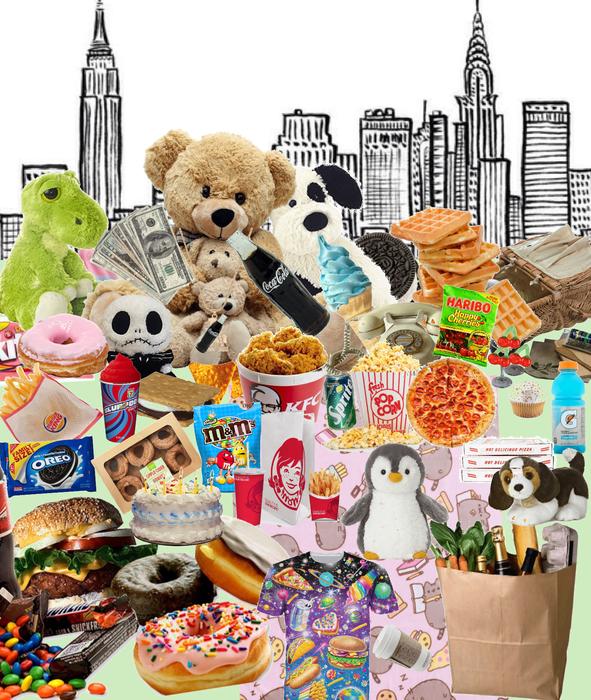 Junk food stuffed Animals