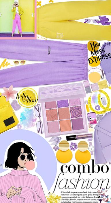 Yellow+purple fashion combo💜💛