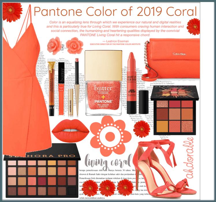 Pantone color of 2019 Coral