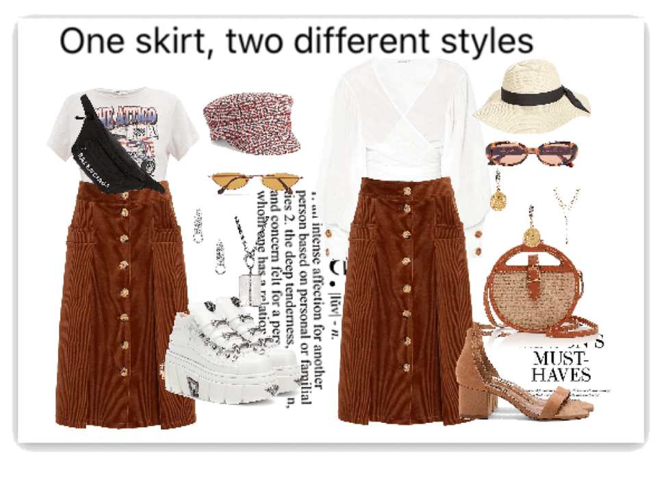 One skirt, two different styles