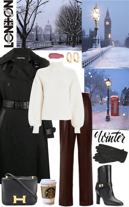 London winter look