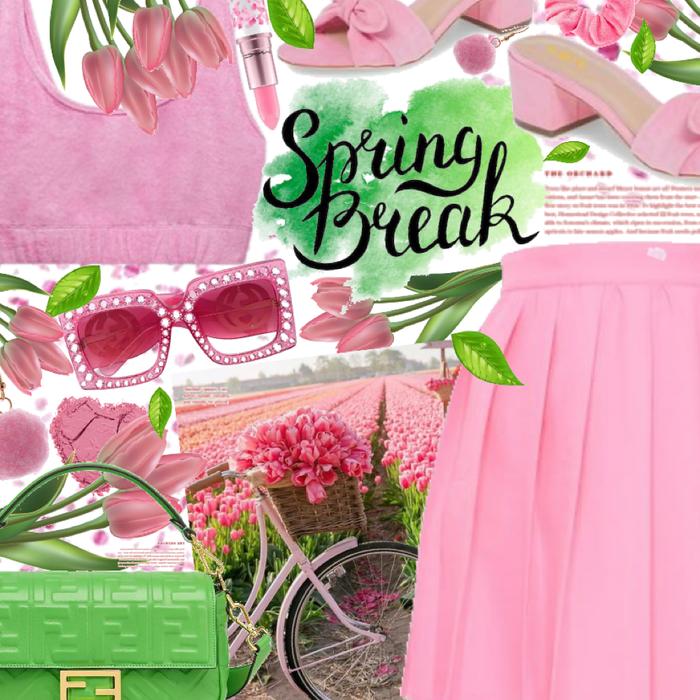 Spring Break- I'll be at the tulip field 🌷
