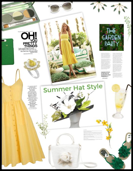Summer hat style/garden party
