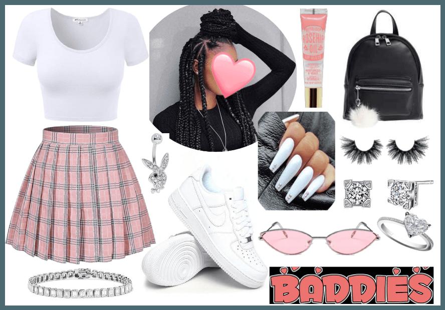baddie school outfit🥰