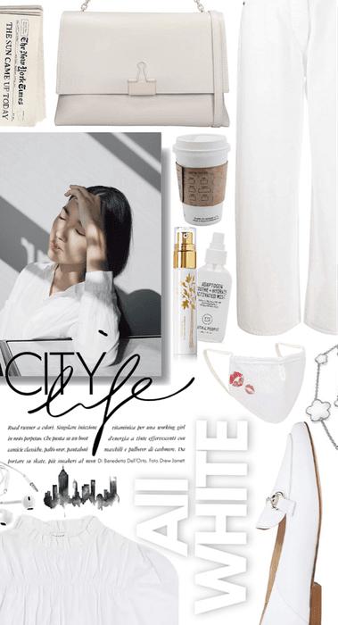 city in white