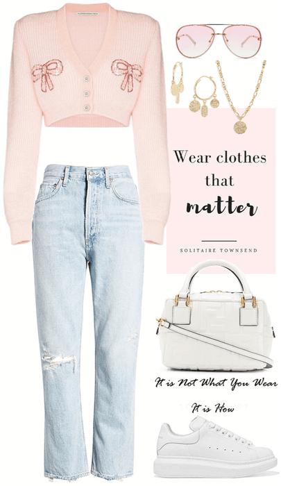 simple,sweet pink look