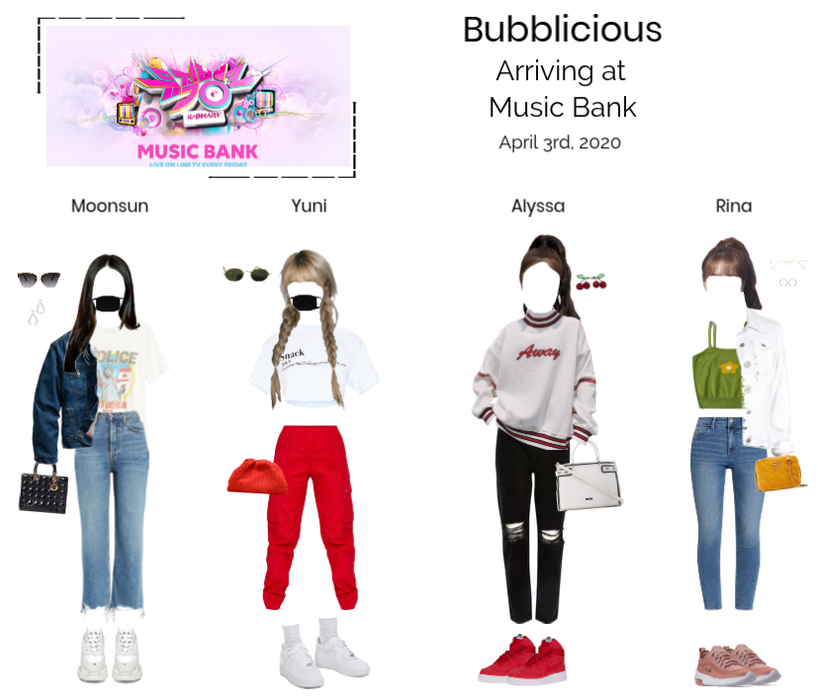Bubblicious  (신기한) Arriving at Music Bank
