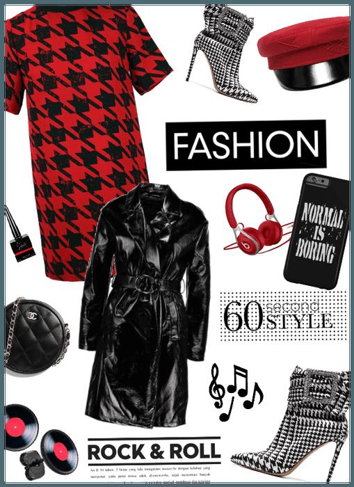 Rock n roll fashion/trench coat