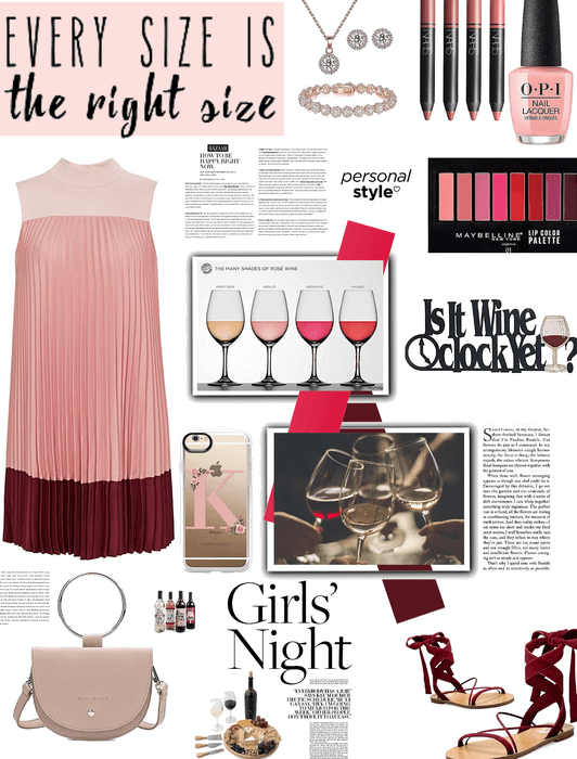 Plus size look/girls wine nite