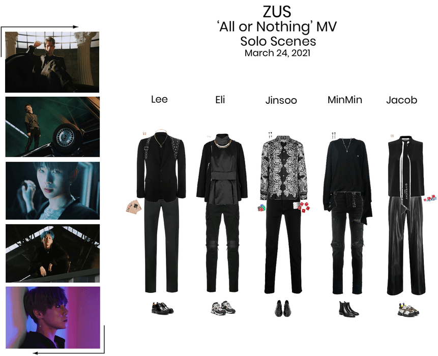 Zus//'All or Nothing' MV Solo Scenes
