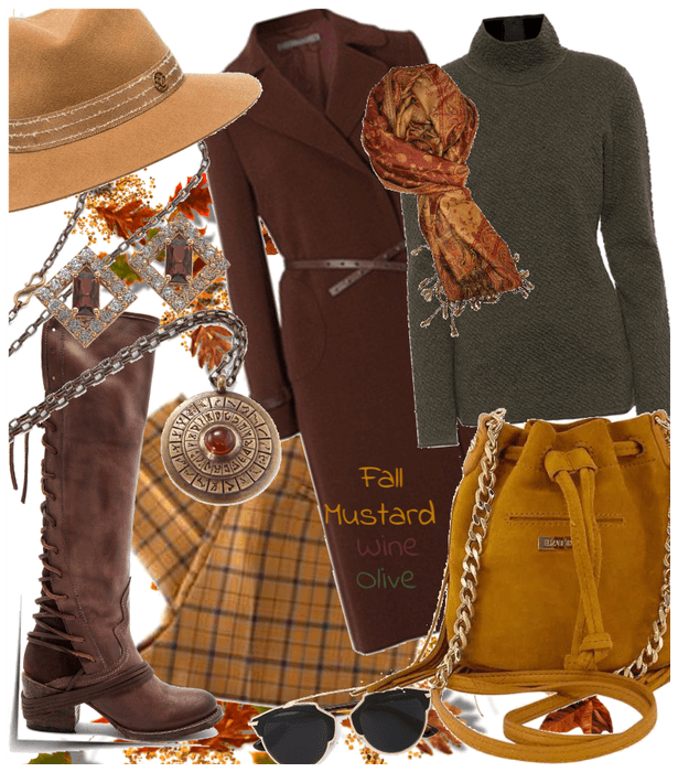 # Sweater Weather # Shoplook # Fall colors wine, m