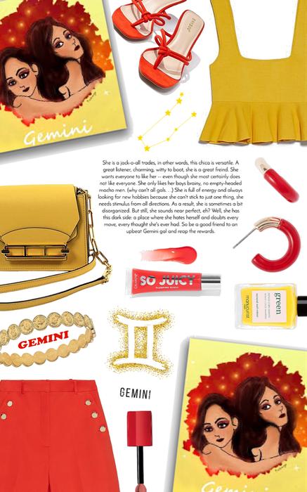 Gemini: red + yellow