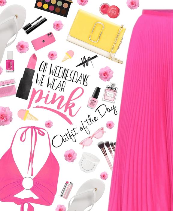 Wednesday we use pink