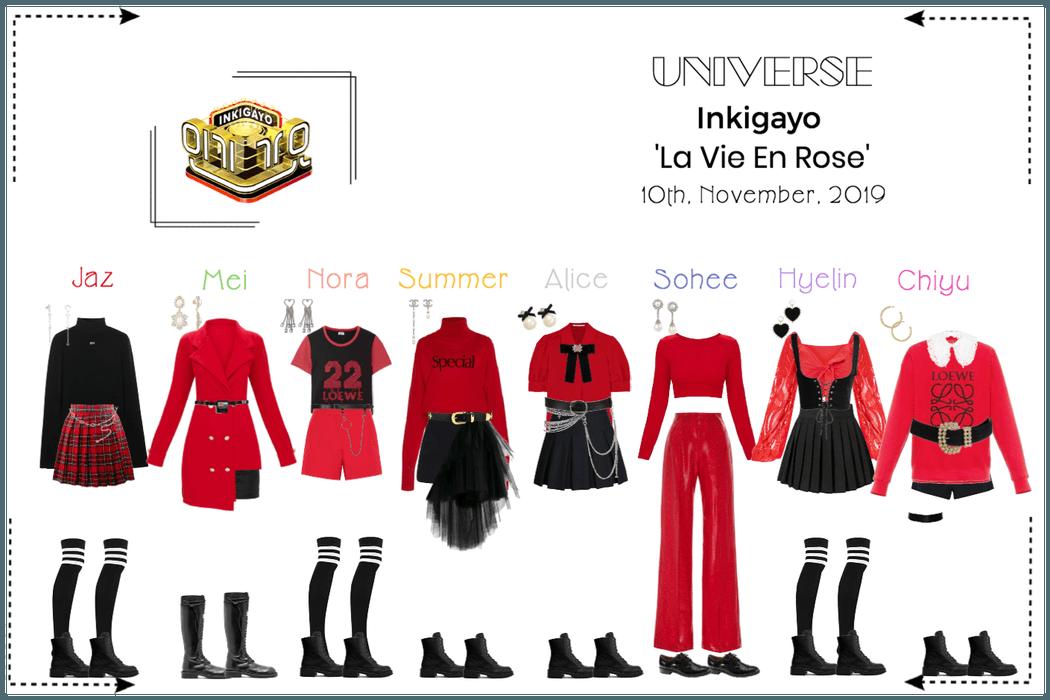UNIVERSE Inkigayo 'La Vie En Rose'