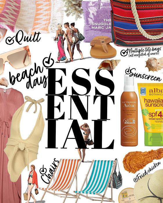 essential checklist   beach day