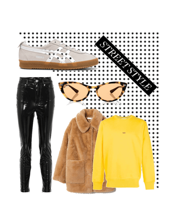 streetstyle outfit 🖤💛