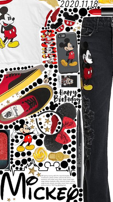 Mickey ❤️🖤🤍💛