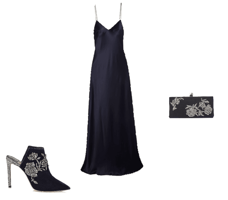 Navy and crystals