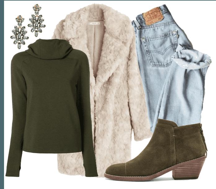 Olive Green Winter Street Wear