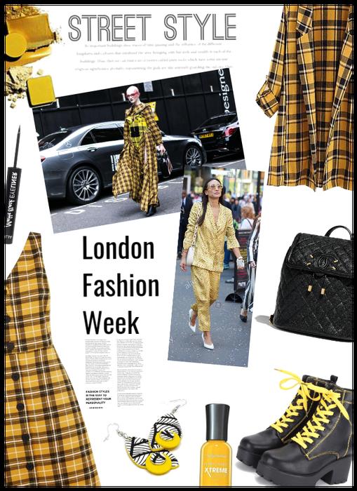 London Fashion Week/Yellow Street Styles