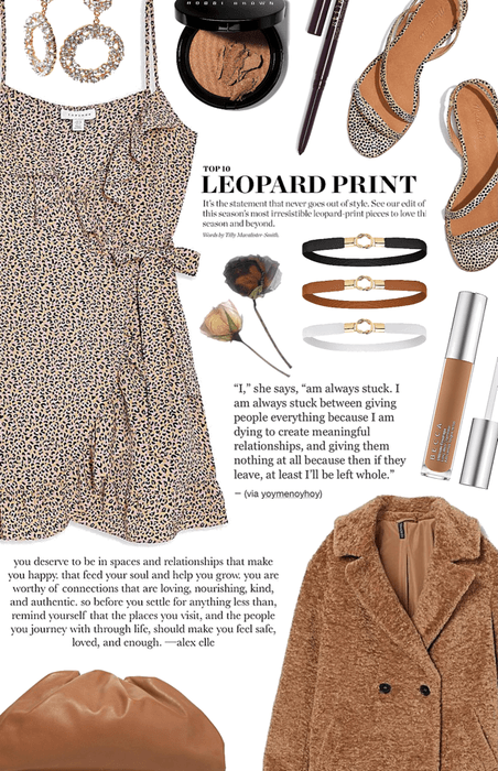 leopard and coat