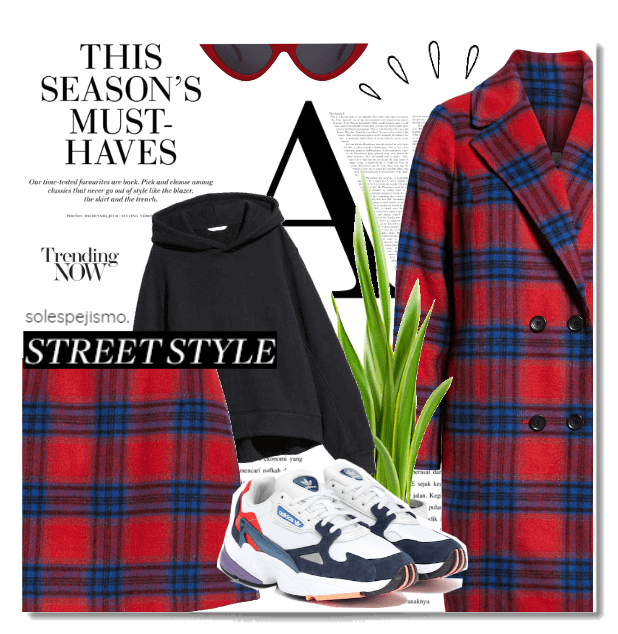 "Plaid  & ""Dad's"" Sneakers"