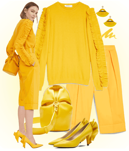 total yellow look